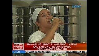 UB: May-ari ng Jimmy\'s lambanog, ininom ang sariling produkto para patunayang ligtas ito