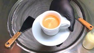 Coffee Ice Cream Rolls |  how to make Coffee Ice Cream / Fried Thailand rolled ice cream roll | ASMR