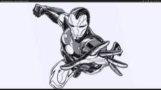 marvel superheroes drawing super heroes draw iron masterclass getdrawings