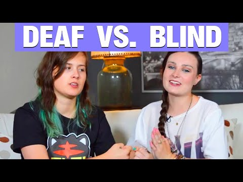 Being Blind VS. Being Deaf! (Collab with Rikki Poynter) - Molly Burke  (CC)