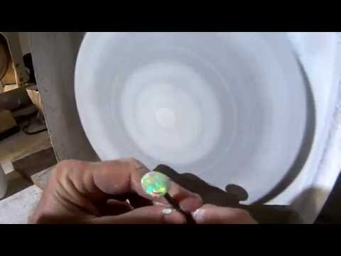 Cutting Opal Gemstones 04  Polishing the Opal Gemstone