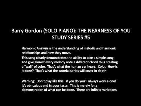 The Nearness Of You Harmonic Analysis Series Youtube