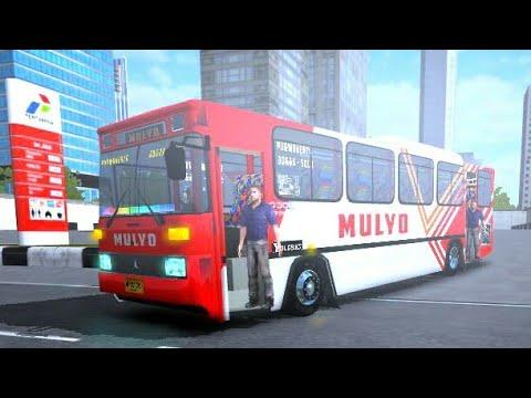 NOSTALGIA BUS KOTA TAHUN 90an!!, Po Mulyo dan bis antik nya - Mod bussid  terbaru Bus kota