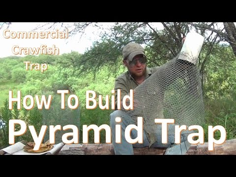 "Pyramid Trap -How to Build and Set- ""DIY Comercial Crawfish Trap"""