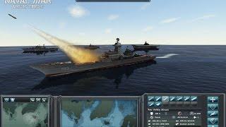 Масштабная Битва Современного Военно Морского Флота России и США ! Naval War: Arctic Circle