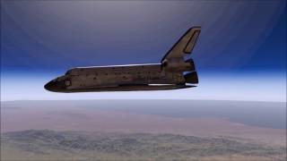 X-Plane 11 Beta - Space Shuttle Endeavour | Full Approach into Edwards AFB (VFR)