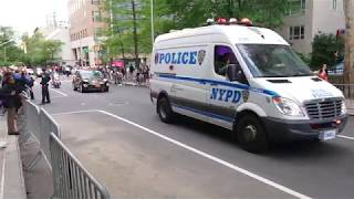 President Donald Trump Motorcade in New York City + street closure 2019, May 16 Real Sounds Unedited