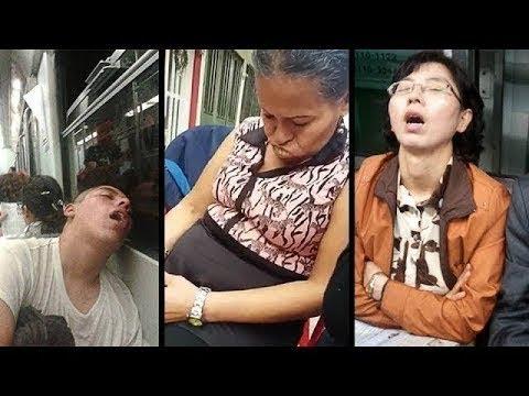 Cuando te gana el sueño en público l Tops Al Chile!