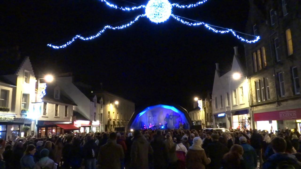Christmas Lights St Andrew's Day St Andrews Fife Scotland - YouTube