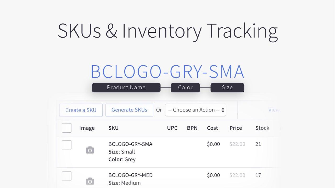Skus Amp Inventory Tracking Bigcommerce Tutorials Youtube