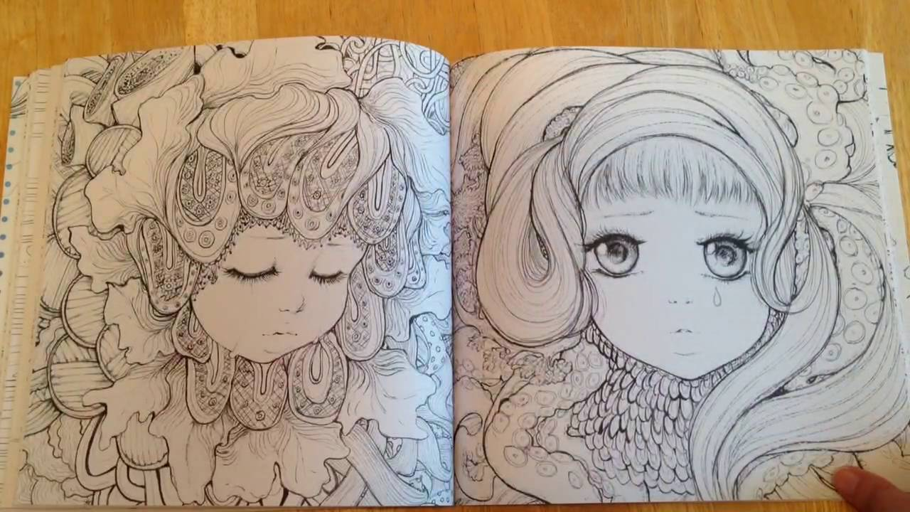 pop manga coloring book - Manga Coloring Book