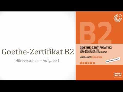Goethe B2 Neu Ab 2019 Hörverstehen1 Lösungen Im Blog Youtube