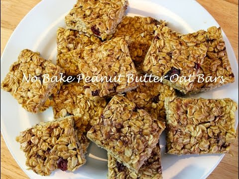 Homemade granola bars with peanut butter no bake