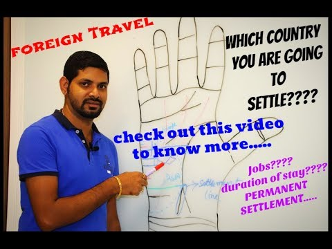 TRAVEL LINE || FOREIGN SETTLEMENT || FOREIGN TRAVEL || Which Country you will travel || Palmistry