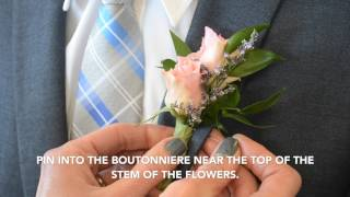 How To Pin Oฑ A Boutonniere