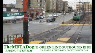 TheMBTADog - Riding with Tim: MBTA B Green Line Outbound via Commonwealth Avenue