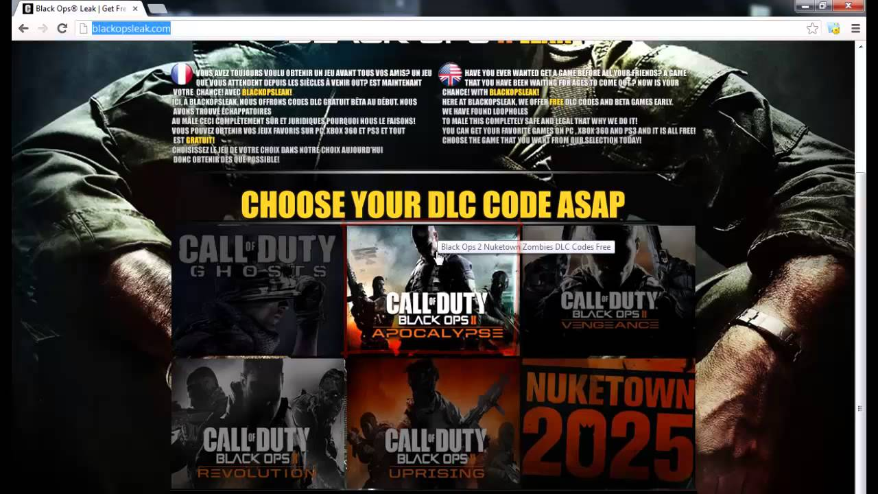 call of duty black ops 2 ps3 dlc free