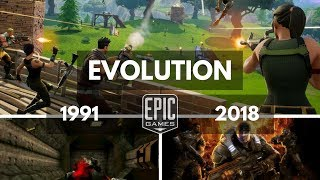 Evolution/history Of Epic Games 1991 2018