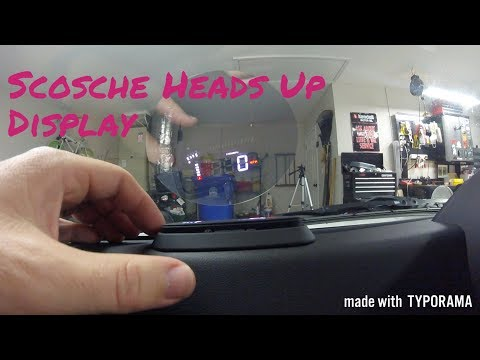 Scosche Heads Up Display Installation and Review