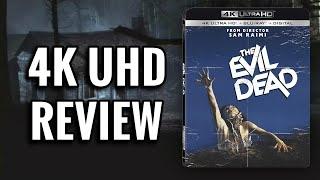 THE EVIL DEAD 4K ULTRAHD BLU-RAY REVIEW   CULT HORROR CLASSIC!!