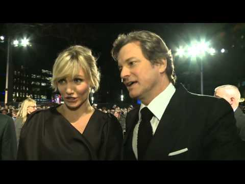 Cameron Diaz and Colin Firth talk nudity at the Gambit premiere