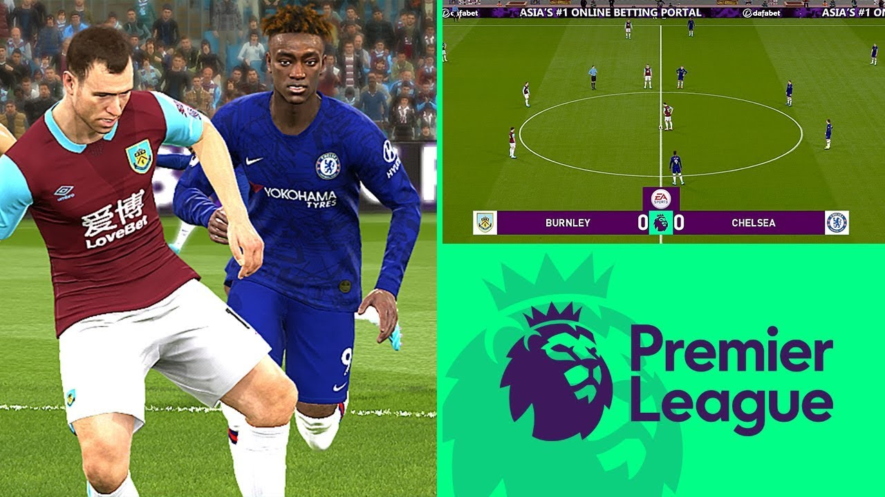 BURNLEY vs CHELSEA EPL • Premier League Gameplay PES 2019