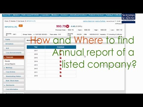 How And Where To Find Annual Report Of A Listed Company