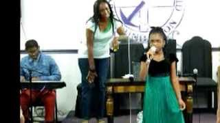 "Tamela Mann ""Father can you hear me"" by 9 year old Taylor Sawyer"