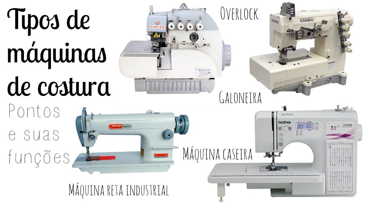 Tipos de máquinas de costura: Seus pontos e funções | #
