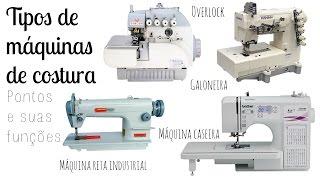 Tipos de máquinas de costura: Seus pontos e funções