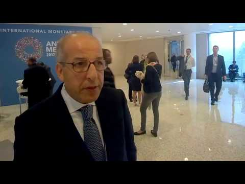 CI MENA interviews Libyan Central Bank Governor Saddek Omar El-Kaber at #IMFMeetings