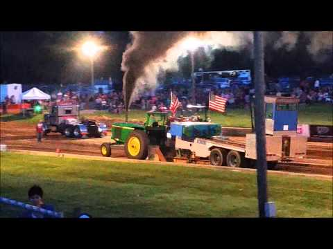 Tractor and semi pulling Lebanon Fairgrounds