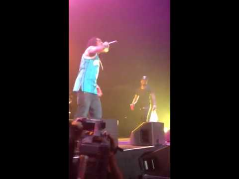 WJMH SuperJam 2012 Crazy Fan Jumps on stage with Wale