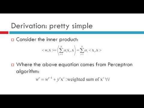 Lecture-11: Machine Learning: Perceptrons- Kernel Perceptron Learning  Part-3/4