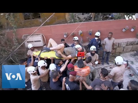 Man Rescued From Rubble After Beirut Blast