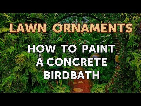 How To Paint A Concrete Birdbath