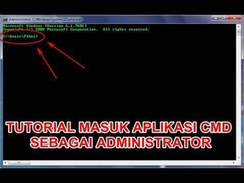 TUTORIAL MEMBUKA APLIKASI CMD DENGAN CARA USER DAN ADMIN!!! - YouTube
