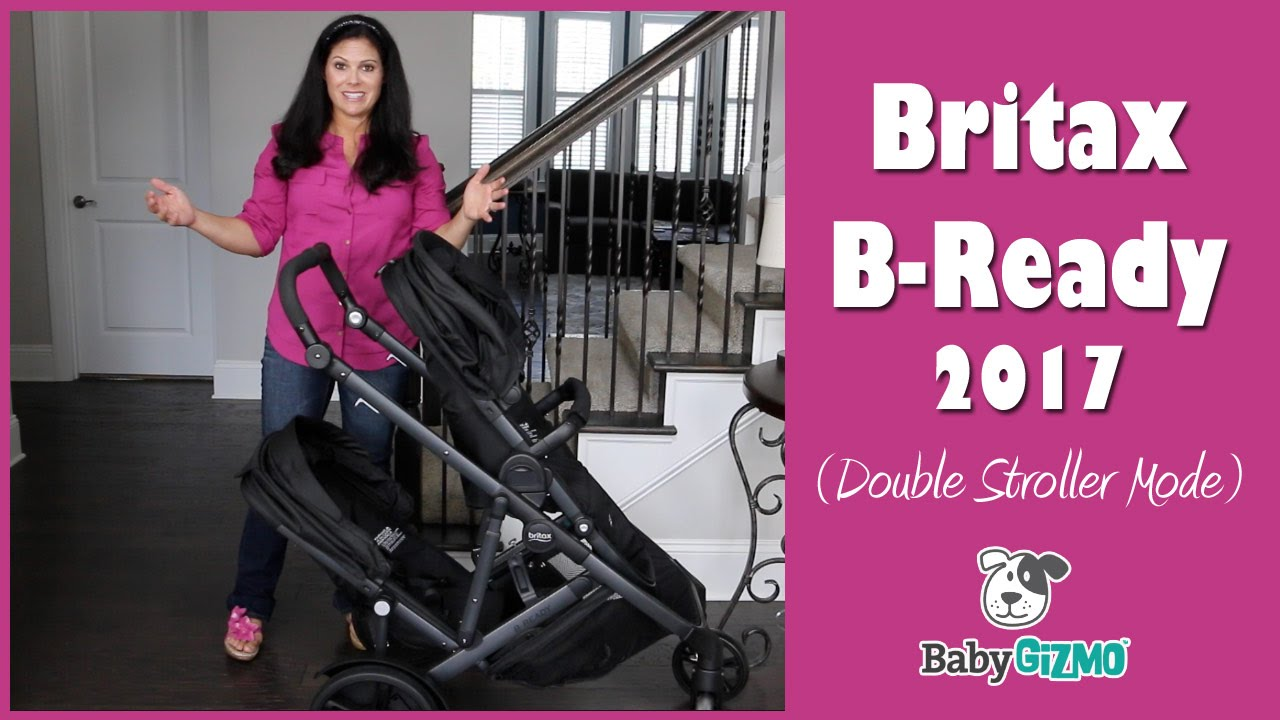 BRITAX B READY 2017 Double Stroller Mode Review