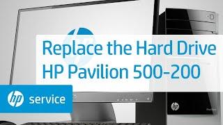 How to Replace the Hard Drive   HP Pavilion 500-200 Desktop PCs