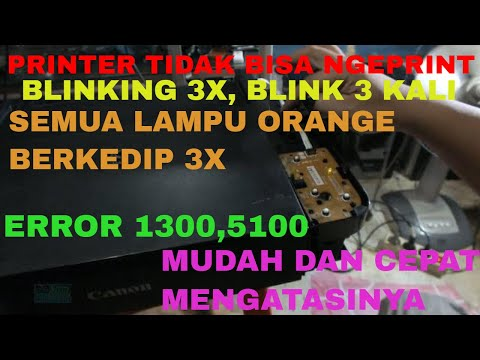 Printer Canon iP2870 lampu berkedip 3 kali bergantian, Error Blinking 3X, Bunyi Suara Ser Error 6000.