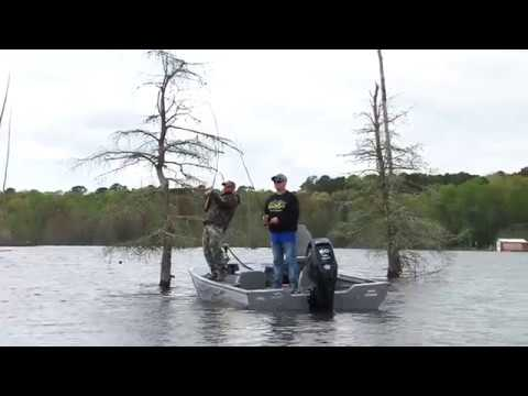 Xtv white crappie in flooded grass youtube for Lake d arbonne fishing report