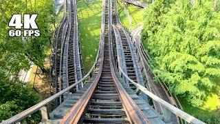 4K AWESOME Phoenix Roller Coaster Front Seat POV Knoebels Amusement Park