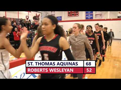 St. Thomas Aquinas vs Roberts Wesleyan College Women's Basketball: ECC Semifinals 3.3.18