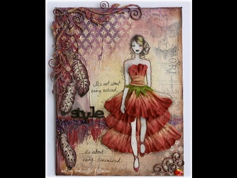 Style  Mixed Media Canvas Tutorial