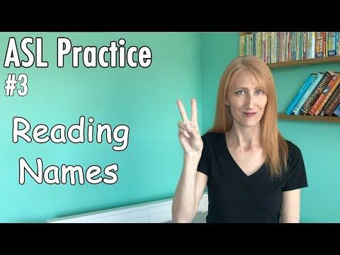 #3 Reading ASL Names Practice   Learn Finger Spelling