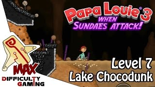 Papa Louie 3: When Sundaes Attack 100% Walkthrough - Level 7: Lake Chocodunk - 6/6 Warp Keys