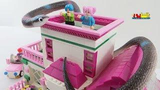 العاب اولاد وبنات - لعبة هجوم الثعبان على البيت للاطفال House game and Biggest Snake