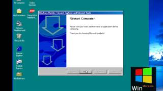 Internet Explorer 6.0 installation in Windows 98 Second Edition