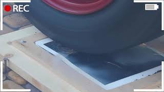 EXPERIMENT: CAR vs iPAD 😱 BURNOUT on a working iPad !!!