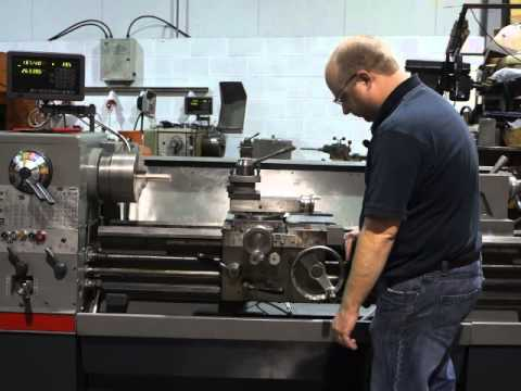 colchester triumph 2000 long bed lathe with dro system - youtube